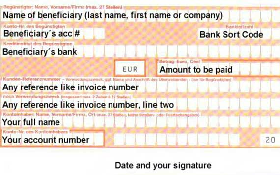 Bank Transfer Form Printing Software