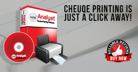 Analyst Cheque Printing Management Software